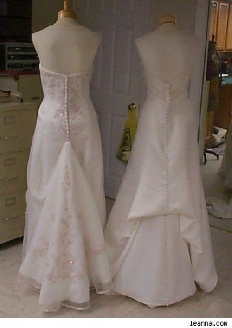 Directions For French Bustle For Wedding Dress Wedding Dress