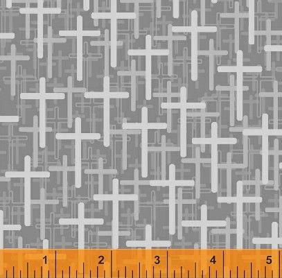 Religious Fabric Christian Fabric Gray Cross Fabric 5845 ... : religious quilting fabric - Adamdwight.com