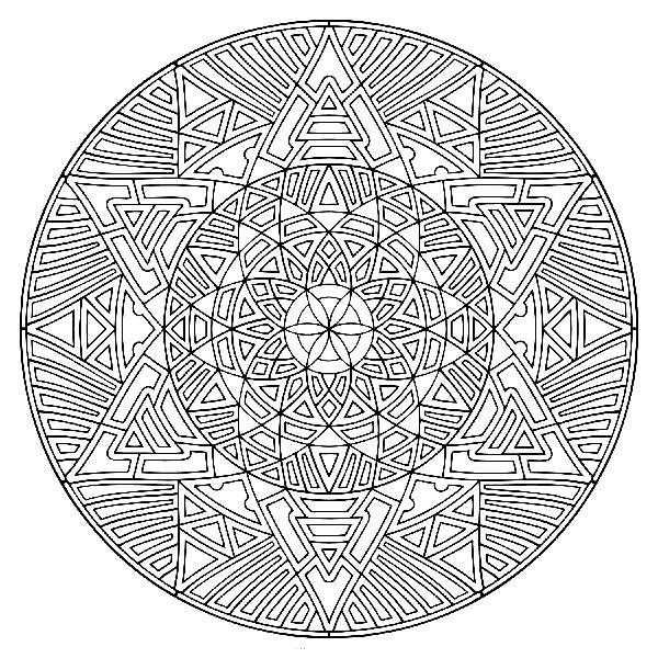 geometric pattern coloring pages for adults Google Search