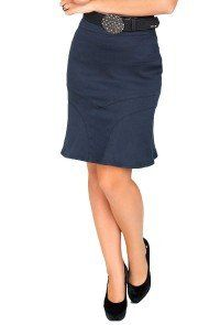 eeaac5984f modelo cabelo castanho saia jeans azul marinho dyork1