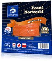 Łosoś Norweski wędzony - wybieramy tylko najwyższej jakości łososia z klasy Superior. Łosoś klasyczny jest wędzony na zimno, co oznacza, że temperatura dymu podczas wędzenia nie przekracza 30 stopni Celsjusza. Idealnie nadaje się do kanapek, sałatek oraz innych zimnych przekąsek.  W ofercie posiadamy łososia norweskiego wędzonego 50g,100g, 150g, 200g, 250g, 500g, 1000g.