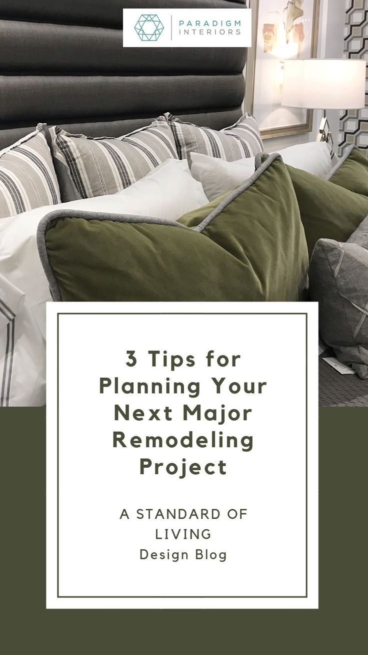 Is remodeling or redecorating your home on your list of resolutions this year? What should you know BEFORE you start talking to the pros? Make sure you read our latest post and find out how to PLAN your next major home project! | Paradigm Interiors is a residential design firm serving clients across the US with edesign services and local Central Florida clients with face to face services. #remodeling #homedecor #designblog