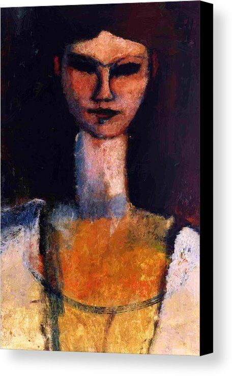 a57bd653b79 Bust Of A Young Woman Canvas Print   Canvas Art by Modigliani Amedeo in  2018