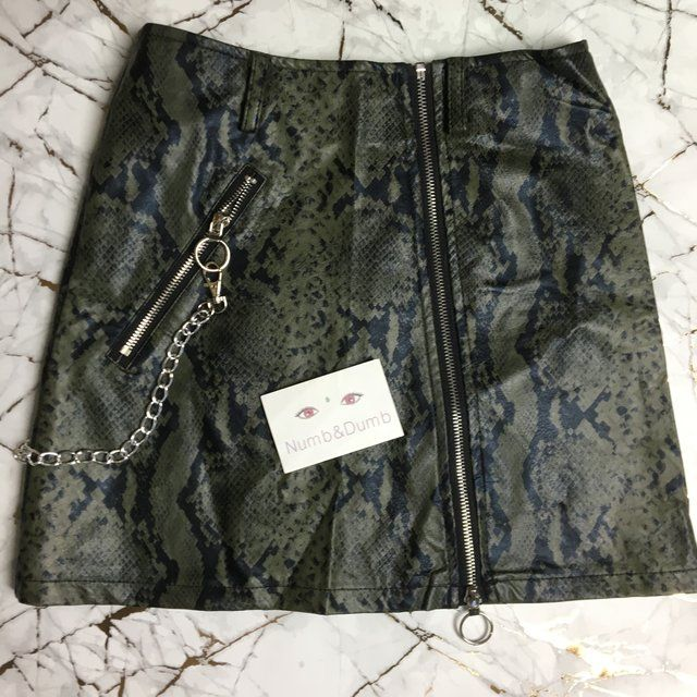 f6c746d2d008 Listed on Depop by numbanddumb | aw19 | Leather, Mini skirts, Fashion