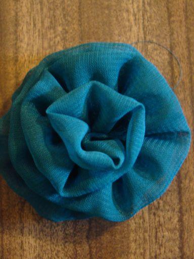 Fabric Flower Tutorial #4 The Gathered Folded Edge Flower, Mad Mim