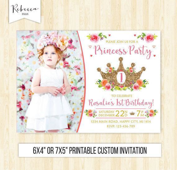 Princess birthday invitation 1st birthday girl princess invitation princess birthday invitation 1st birthday girl princess invitation princess party fairy tale invite pink and gold filmwisefo Images