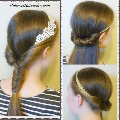 Princess Hairstyles 3 Cute And Easy Hairstyles Using Headbands Video Tutorial