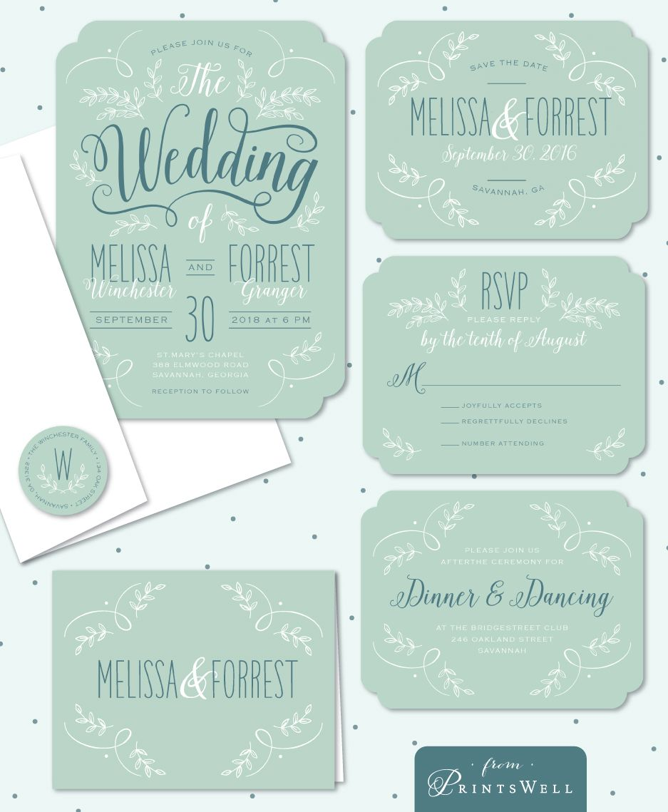 Enchanting Day Stacy Claire Boyd Rustic Teal, Mint, and White ...