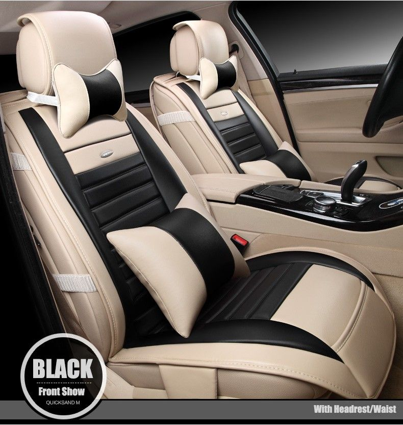 For Audi A1 A3 A4 A6 A5 A8 Q1 Q3 Q5 Q7 New Brand Luxury Soft Pu Leather Car Seat Cover Front Rear Full Seat Leather Car Seat Covers Leather Car Seats