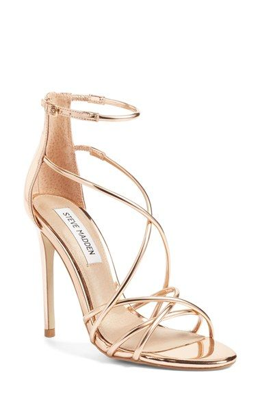 1d79be12e42 Free shipping and returns on Steve Madden Satire Strappy Sandal (Women) at  Nordstrom.com. Barely there metallic straps intertwine at the toe and  crisscross ...