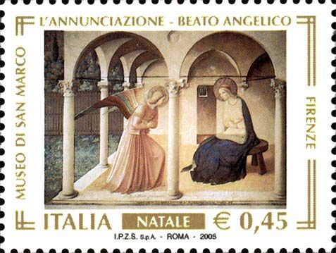 Issued in 2005, Italy - I used to visit Museo di S. Marco to see this painting...this stamp reminds me of the days I lived in Firenze