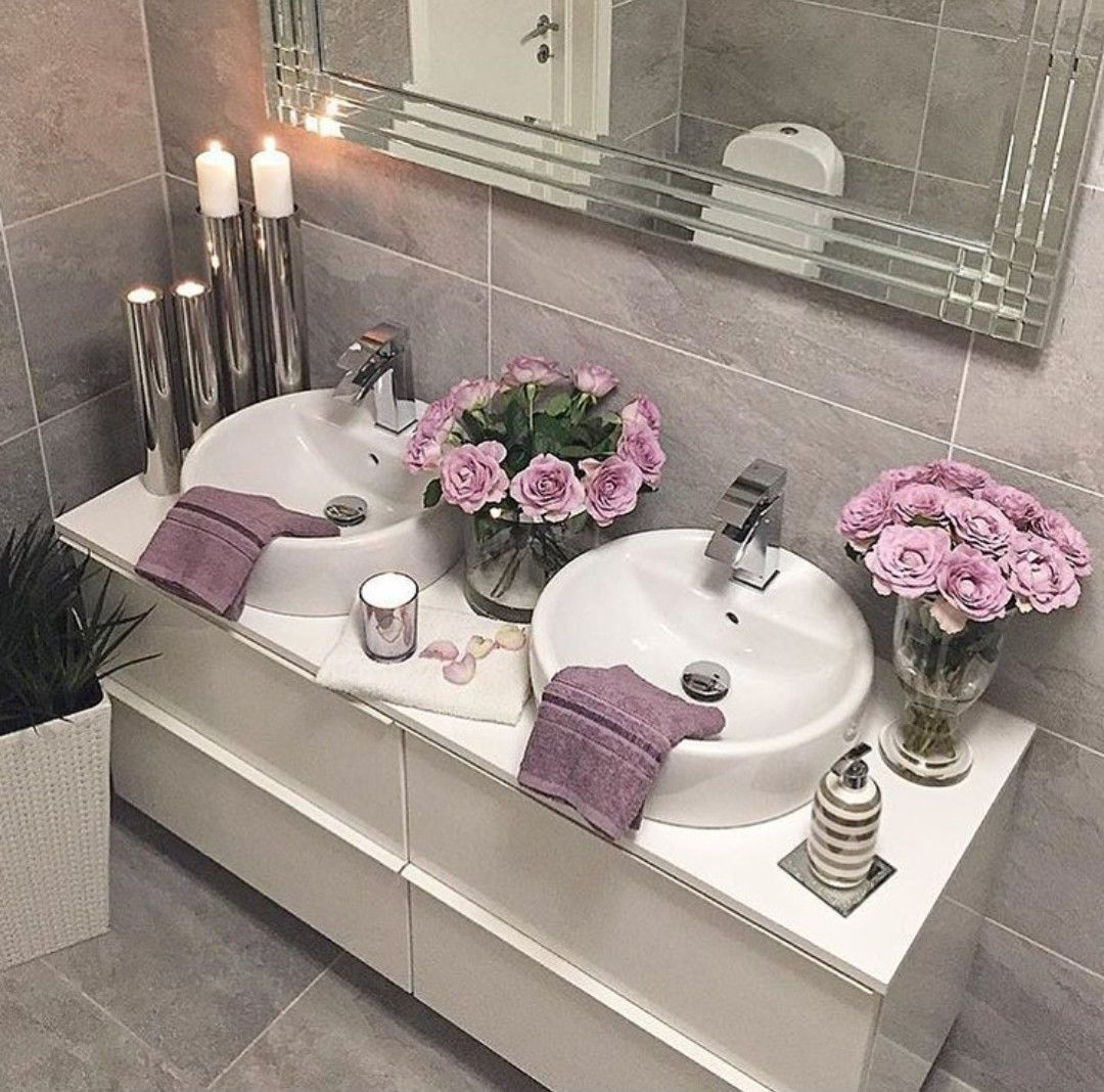 Pin By Sabina Khalid On Bathroom Gray Bathroom Decor Master Bathroom Decor Bathroom Decor Themes Home decor bathroom pictures