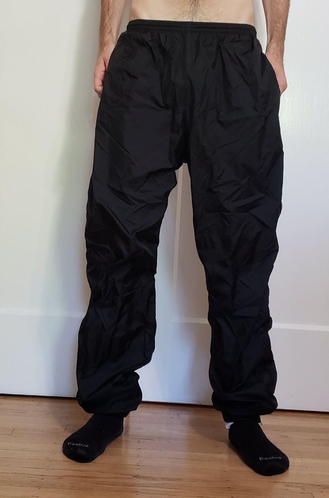 3ab1770a3744c Nike Men's Black Nylon Track Pants, Large | eBay | nylon pants ...