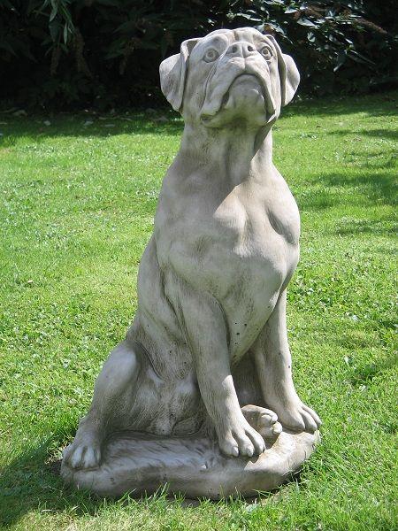 Beau Large Boxer Dog Statue
