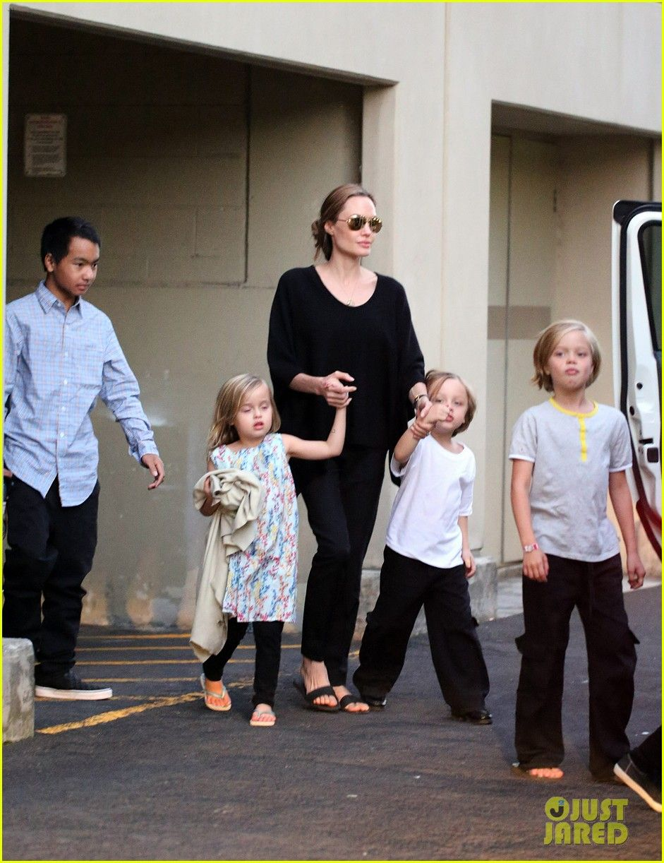 Angelina Jolie Goes Bowling in Australia with All Six Kids