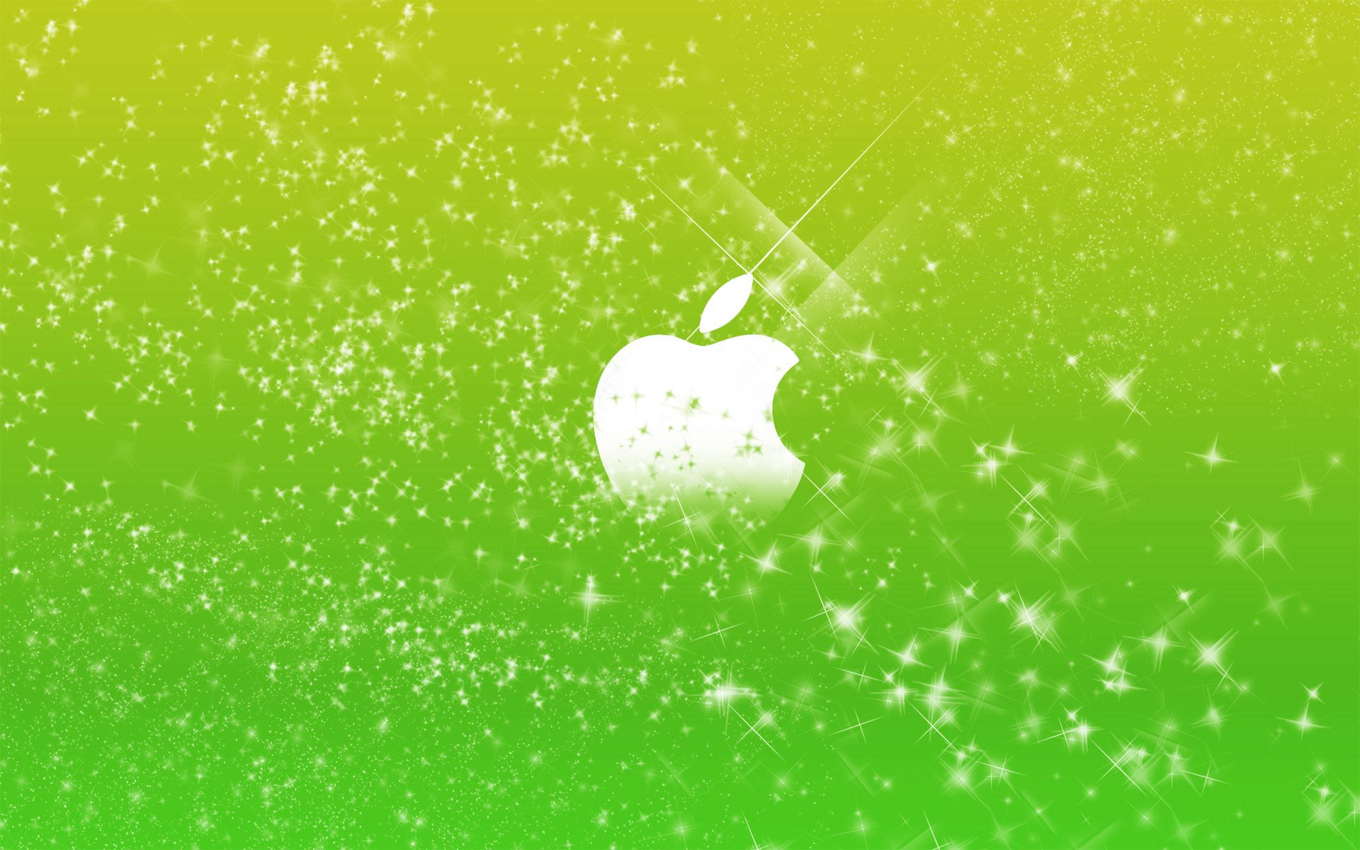 apple wallpaper a· apple logo in green glitters
