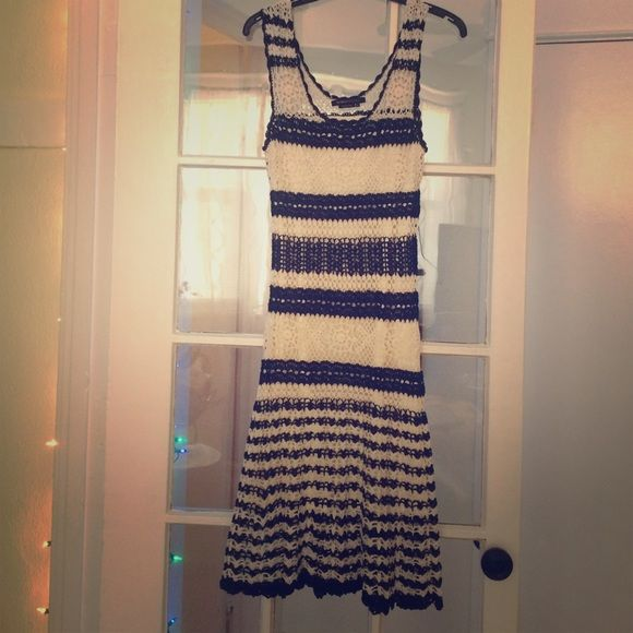 bc6b0fbfb33 Gorgeous black and white crochet BCBG dress. Only worn once. In excellent  condition. Bust 14