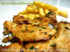 Las recetas de Triana: Filetes de pollo en adobo amarillo (Andaluz)