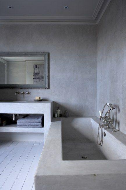 salle de bain tadelakt 4 | Sdb | Pinterest | Tadelakt, Salle de ...