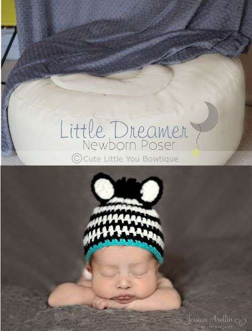 Newborn photography Bean bag Body Poser, Hands under chin Newborn Beanbag poser little dreamer props