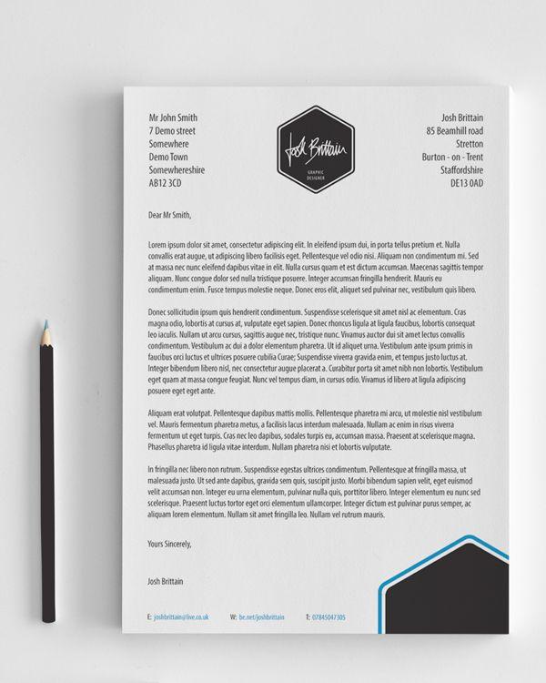 Self promotion rebrand by Josh Brittain, via Behance Lettre de - promotion on resume