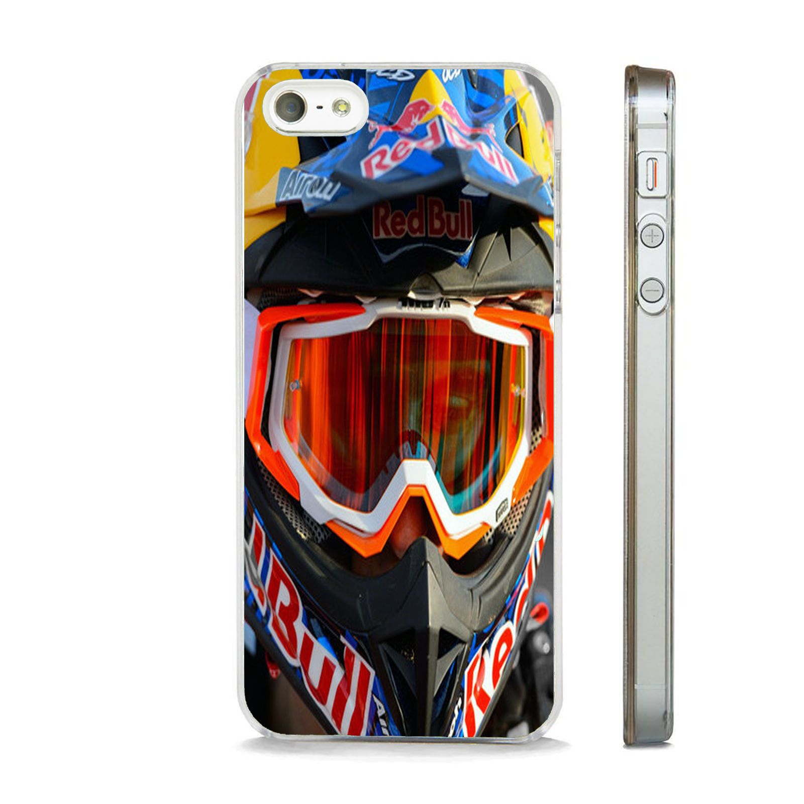 online store 1c411 6d2dc Details about RED BULL MOTOCROSS CLEAR PHONE CASE FITS IPHONE 4 5 5S ...