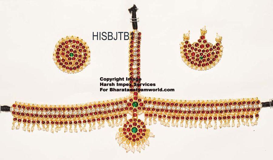 e31263b1cfb BharatanatyamWorld   Bharatanatyam Temple Jewellery Set - Design Diamond  Style