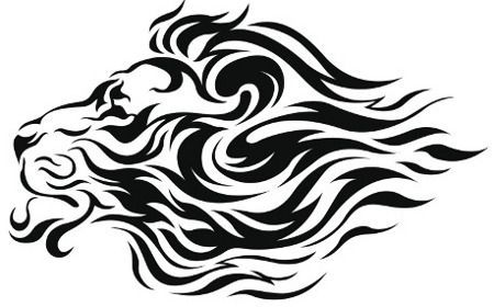 image result for tribal lion face tattoo stencil designs by shobha rh pinterest ch tribal lion head tattoo meaning Lion Head Tribal Patterns