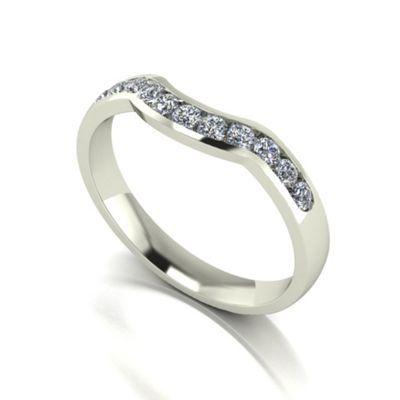Love Story 9ct white gold 0.33ct diamond band ring- at Debenhams.com