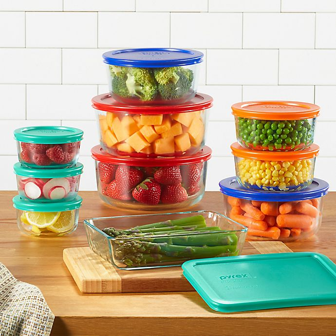 Pyrex Simply Store 20 Piece Glass Food Storage Set Bed Bath Beyond In 2020