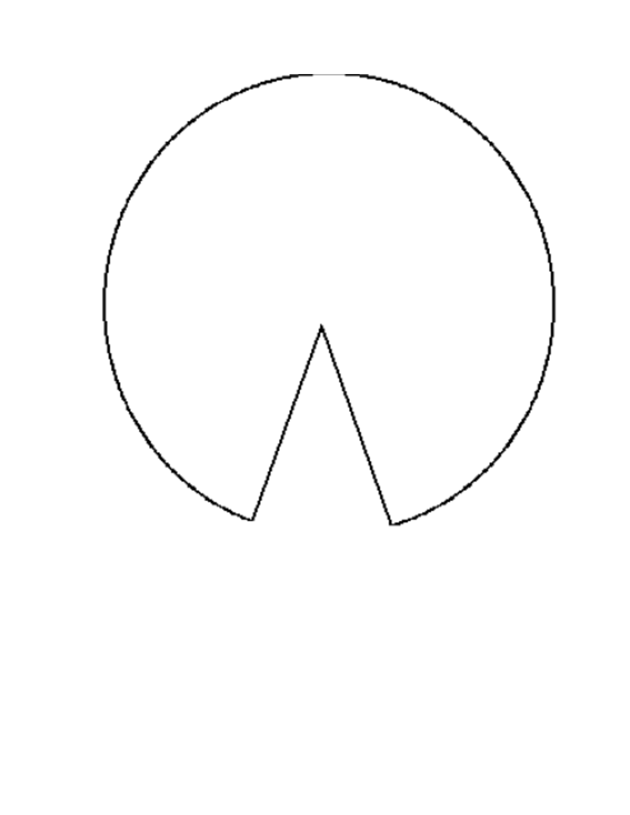 Lily Pad Outline Template
