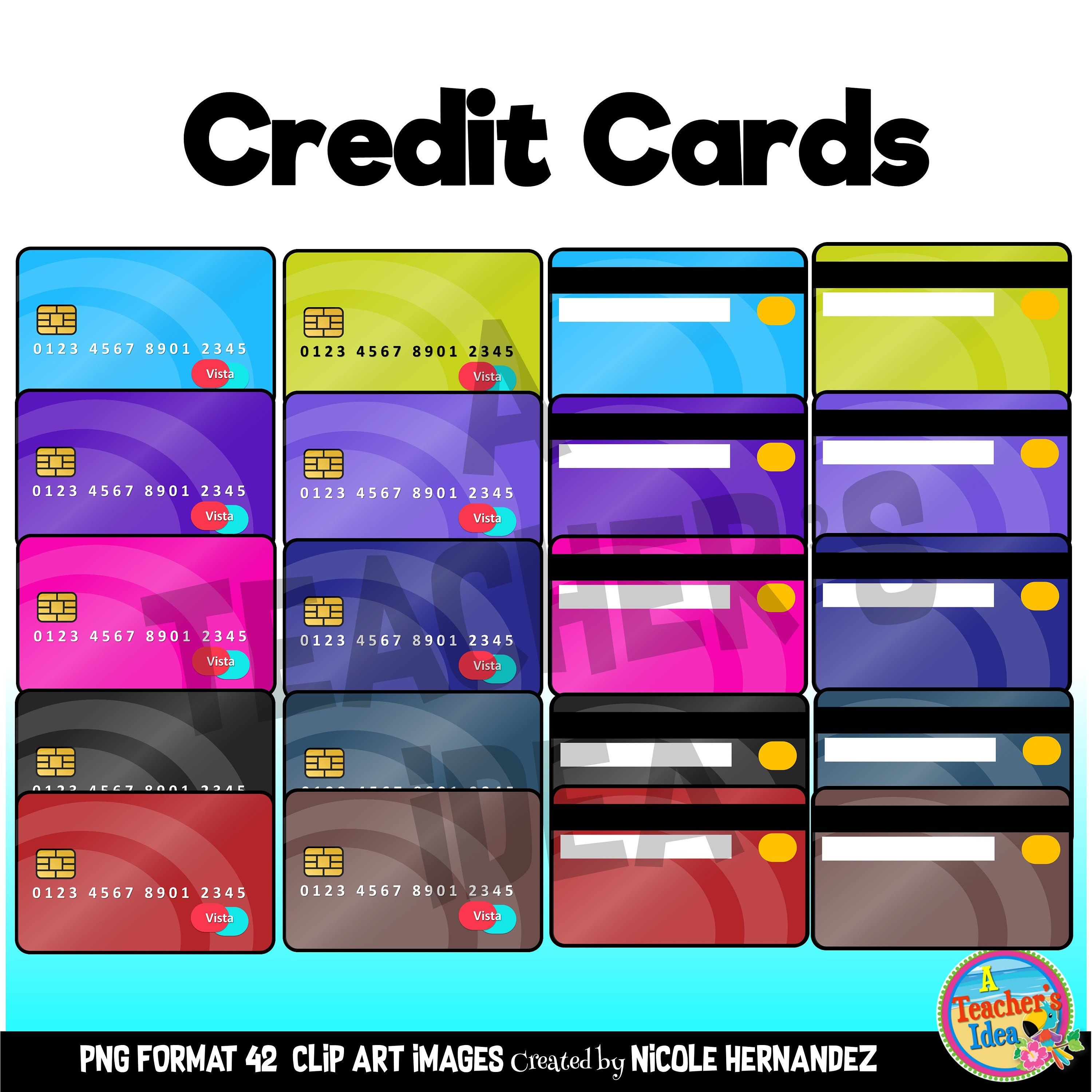 Credit card clipart for commercial use credit card