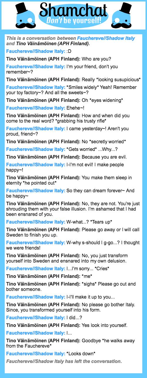A conversation between Tino Väinämöinen (APH Finland) and Fauchereve//Shadow Italy