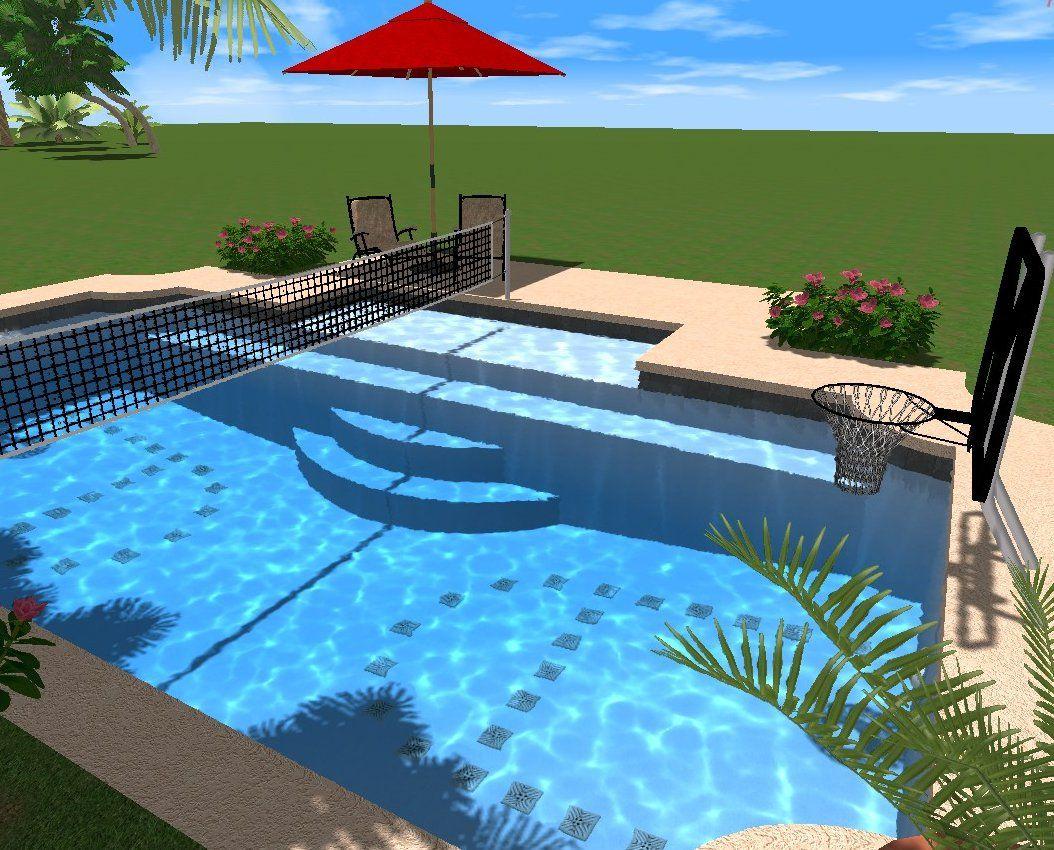 Pooldesignideen fur kleine hinterhofe for Innovative pool design king s mountain