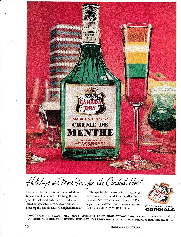 Amazon Com 1957 Canada Dry Creme De Menthe Liqueur Original Magazine Ad 20 New Flavors Everything Else Liqueur Alcohol Spirits New Flavour