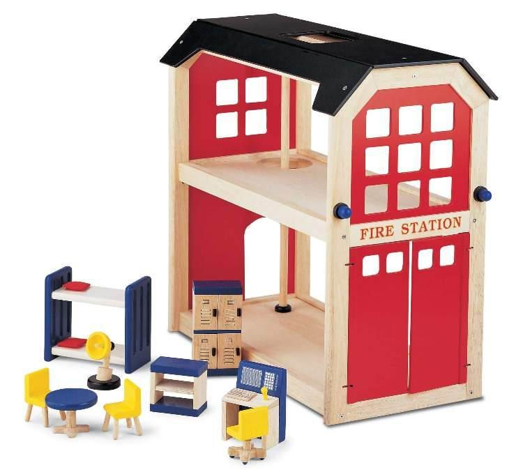 The Best All Wooden Firestation Play Toy For Children On The Market