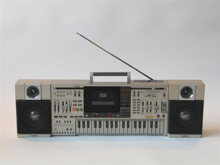 Casio KX-101 Boombox Cassette Keyboard Synthesizer:   Sound Devices