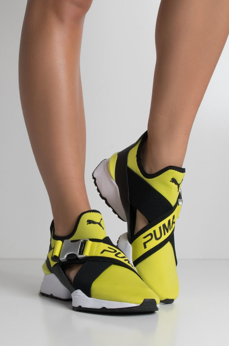 Make a statement. The Puma Women's Muse EOS Sneakers will