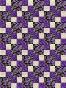 Debbie Beaves Lovely Purple Cream Black Floral Pansy Fabric Quilt ... : debbie beaves quilt patterns - Adamdwight.com