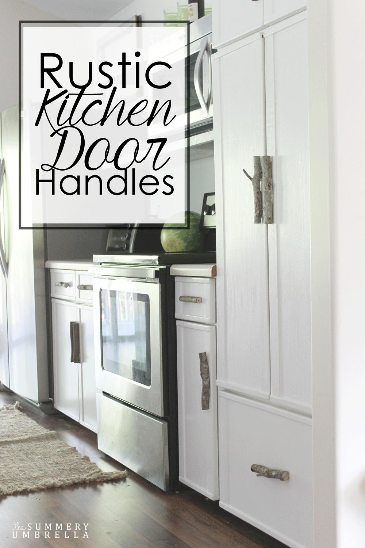 Rustic Kitchen Door Handles #kitchendoors