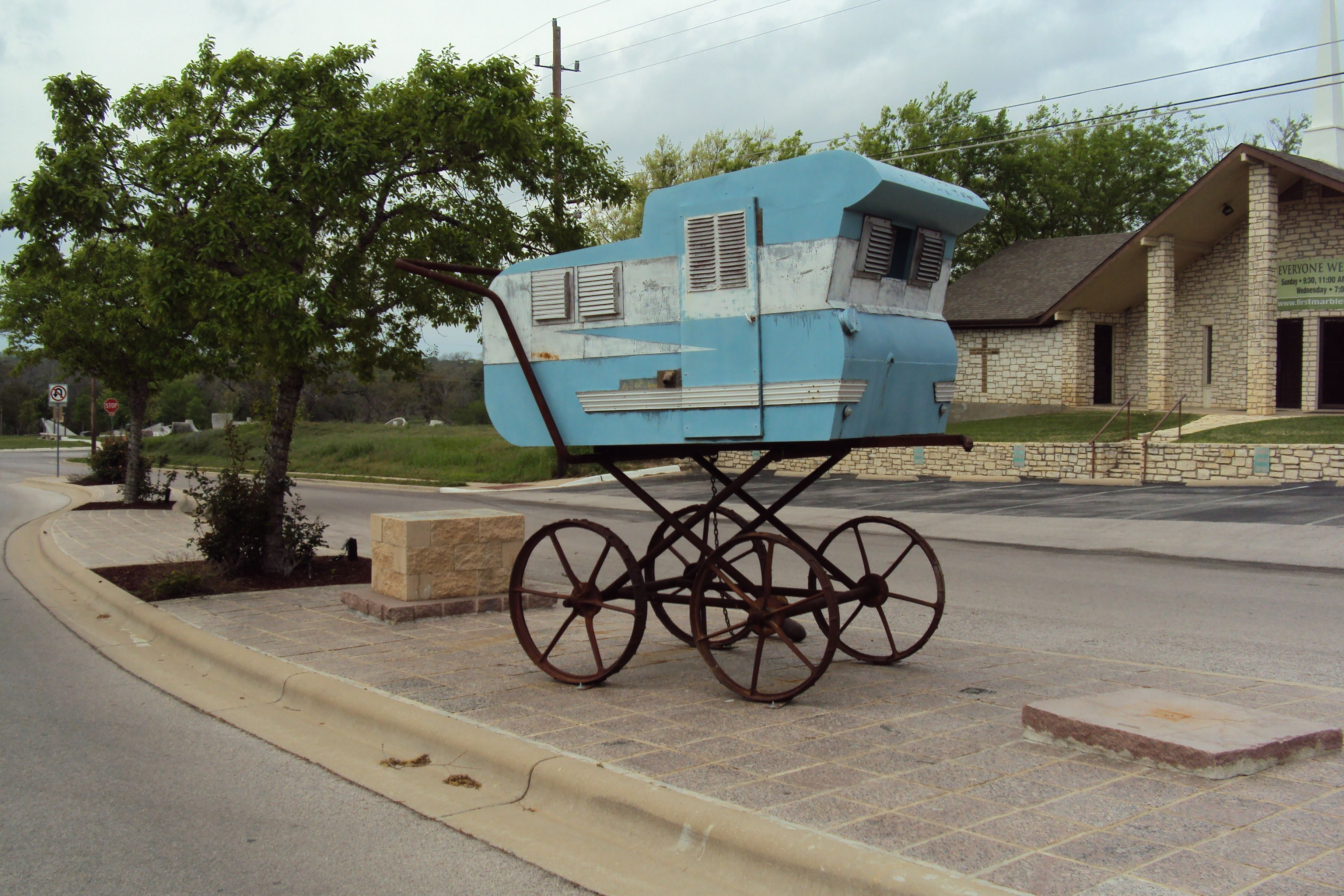 Only In Texas Marble Falls A Quant Lovely Town With Images Marble Falls Only In Texas Vintage Travel Trailers