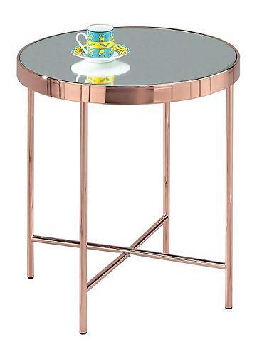 Tesco Direct Fino Round Side Table Copper Round Metal