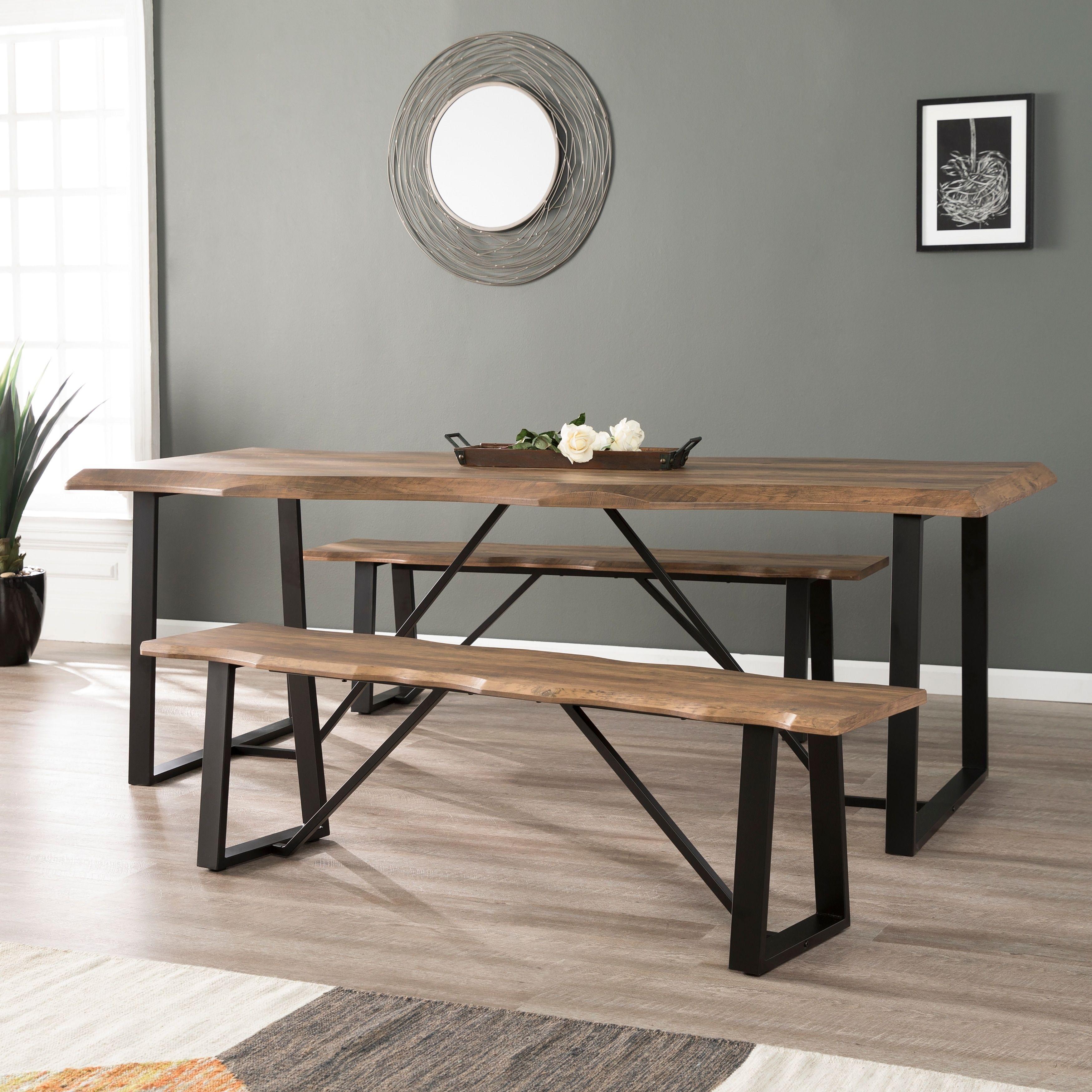 Harper Blvd Lakeith Modern Eclectic Natural Wood Metal Dining Set