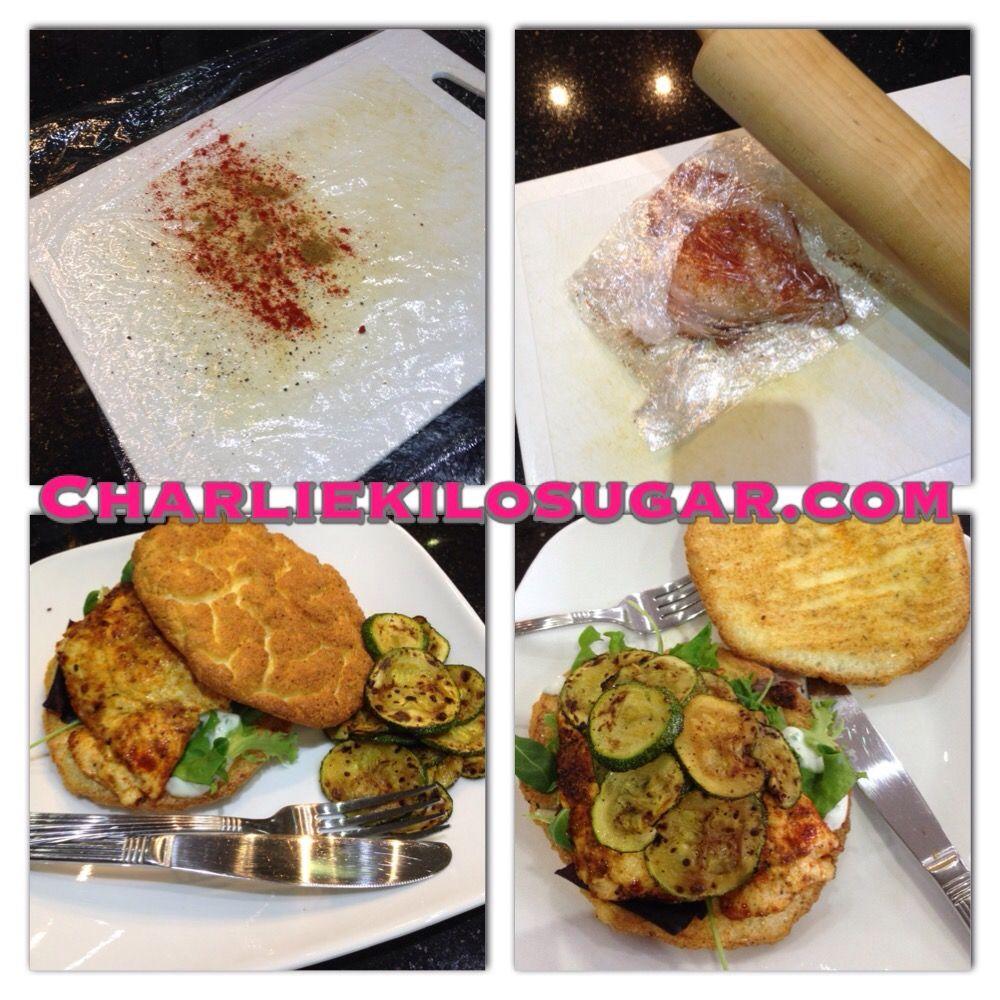 Rosemary Cloud Bread Cajun Chicken Burgers Cajun Chicken Burger