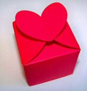 Valentinstag Geschenk Basteln rote herz schachtel zum valentinstag basteln basteln schule