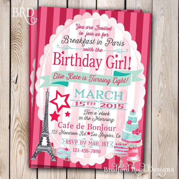 American Girl Grace Thomas Inspired Birthday Invitation American