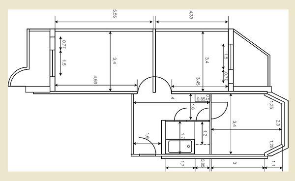 Дизайн двухкомнатной квартиры п44т распашонка. Фото ...