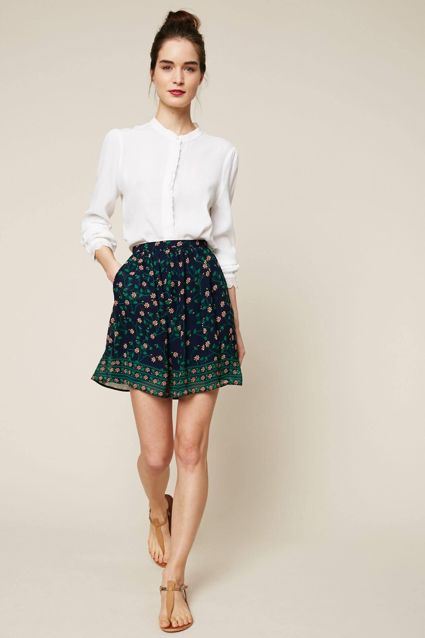 e436e8b9ae2cc9 Idée de look Jupe Femme Chic Décontracté (Casual Chic) printemps/été ...