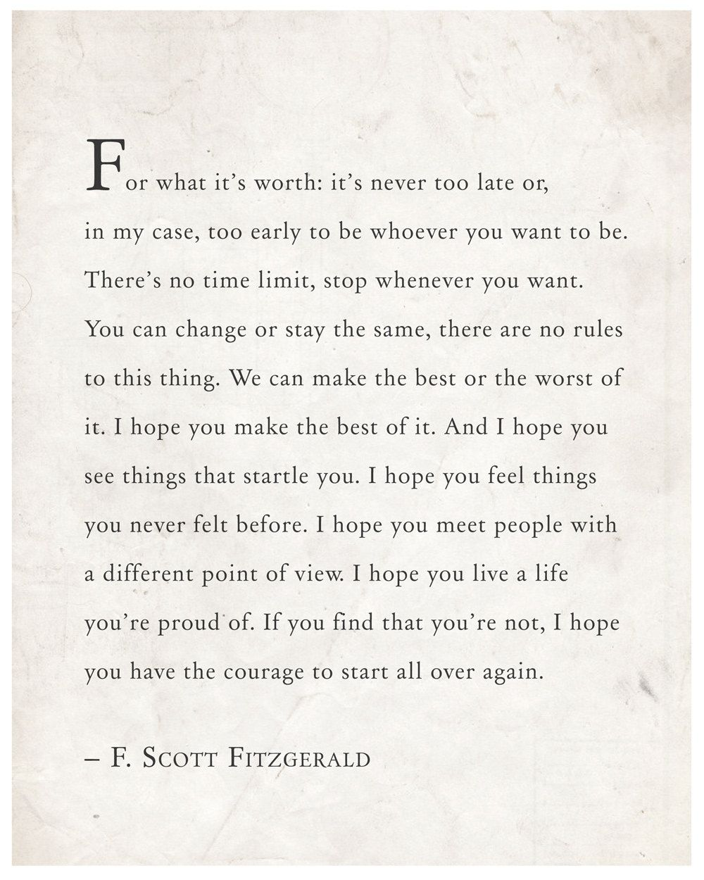 F Scott Fitzgerald Love Quote Fscott Fitzgerald Wise Words That Read For What It's Worth