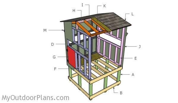 Building an elevated deer blind outdoor plans for Elevated hunting blind designs